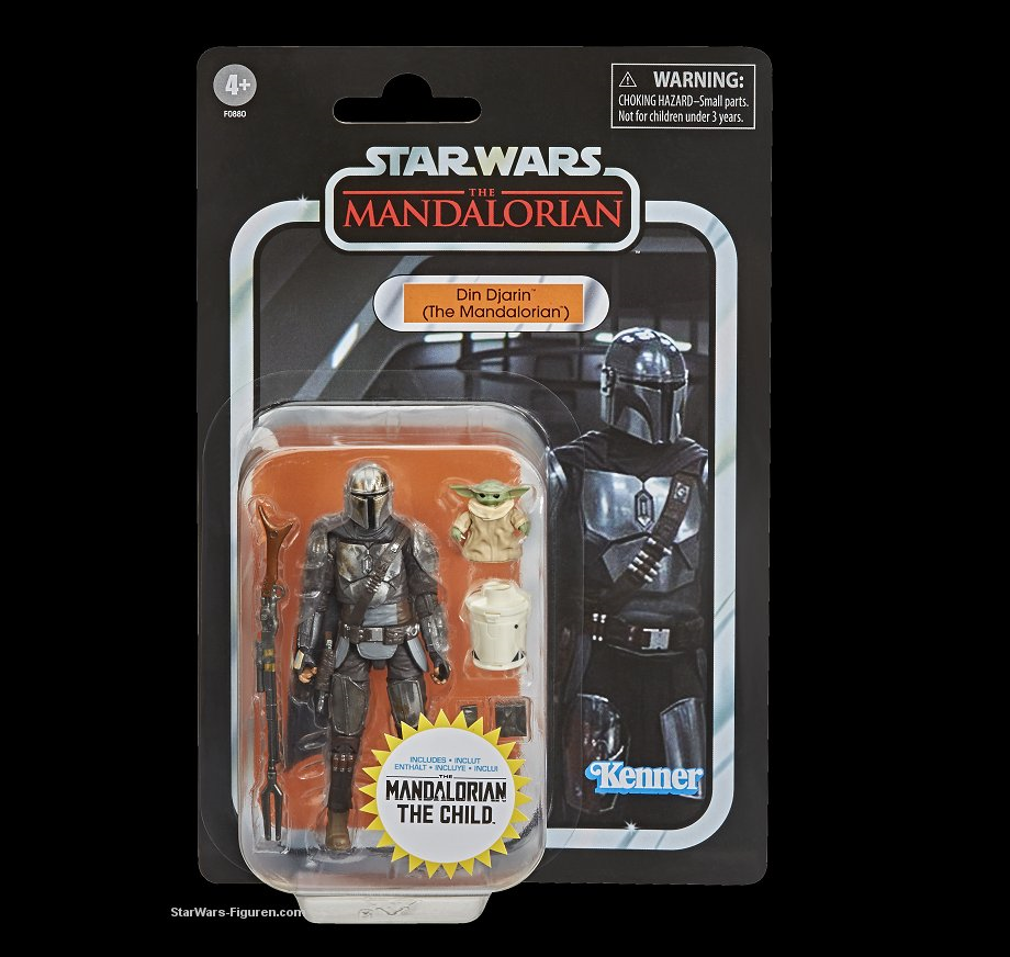 The Mandalorian Din Djarin and Child Vintage Collection figure