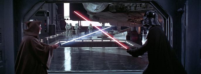 Darth Vader and Obi Wan Duel
