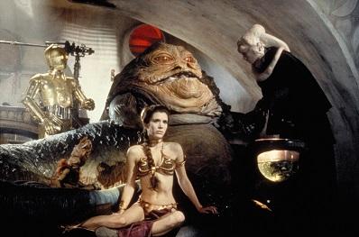 Slave Leia at Jabbas palace